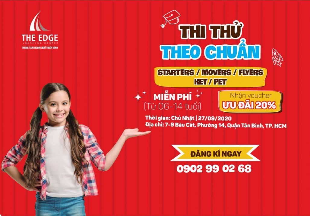 THI THỬ THEO CHUẨN STARTERS/MOVERS/FLYERS/KET/PET