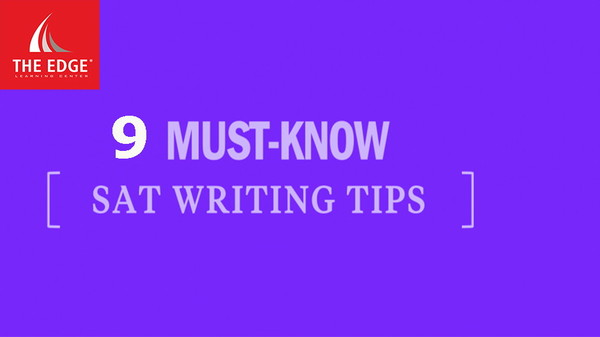 sat writing tip - The Edge Learning Center