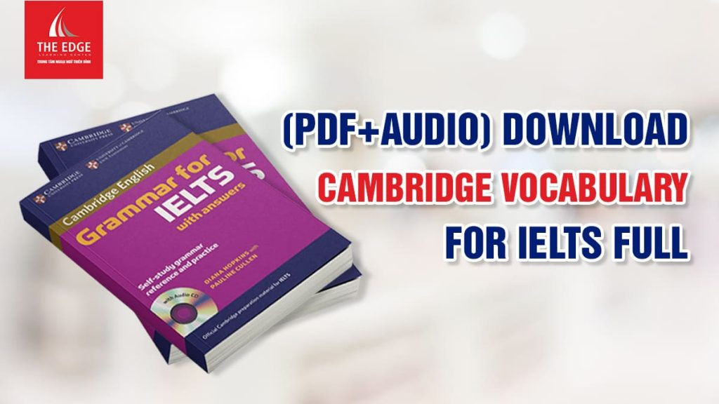 cambridge vocabulary for ielts - The Edge Learning Center